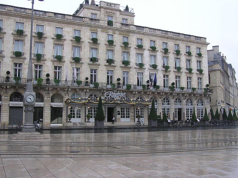 Sortir the regent grand h tel de bordeaux luxe and for Hotel de luxe bordeaux