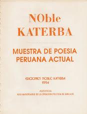 NOBLE KATERBA Una muestra  antológica