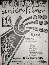 AFICHE DEL RECITAL DE POESIA UNIÓN LIBRE