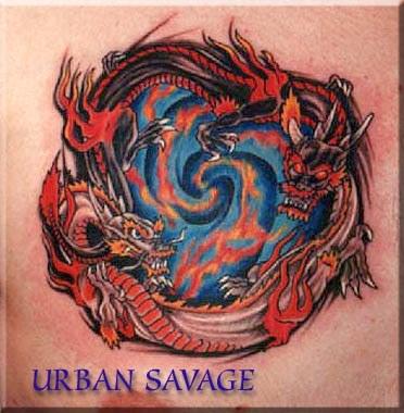black and grey dragon tattoo · Asian asian dragon tattoos Black Dragon