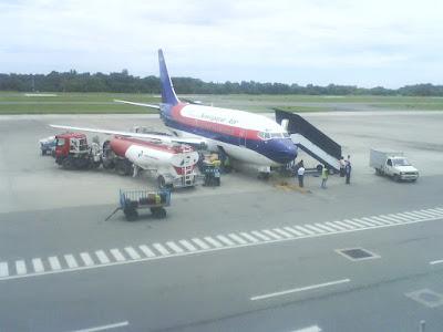 anjungan, anjung pengantar bandara sepinggan
