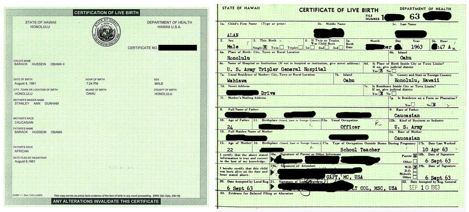 New Application For Birth Certificate Replacement