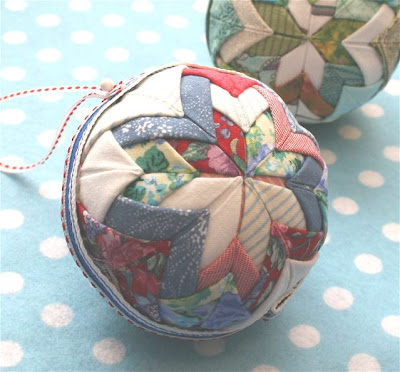 Folded Star Christmas Ornaments - Fabric Star Ornaments - Quilted