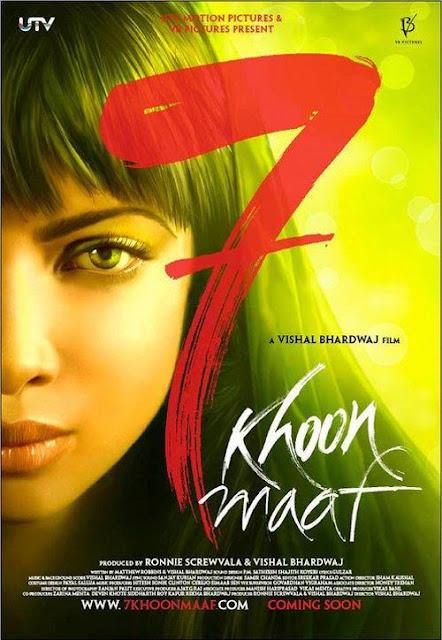 songs pk: 7 Khoon Maaf songs Mp3 Poster Wallpaper Download 2011 .