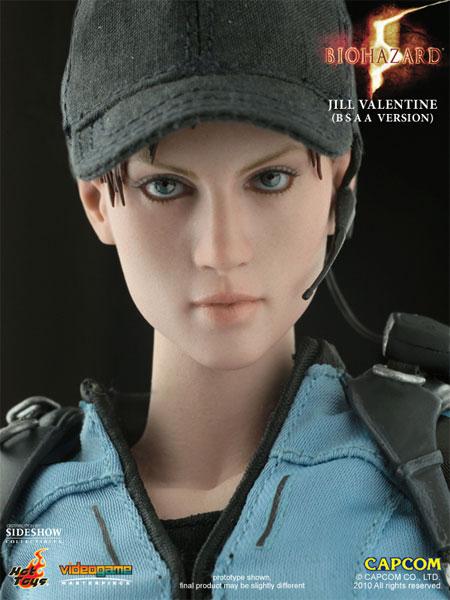 1//6 Scale Resident Evil Jill Valentine Head Sculpt For 12/'/' Hot Toys Female Body