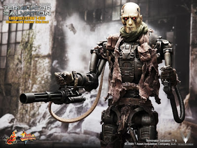 T 800 Terminator Salvation toyhaven: Hot Toys T-600 Weathered Rubber Skin version Preview