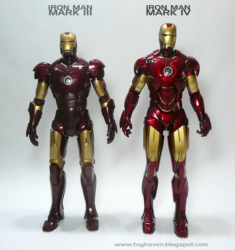 toyhaven: Comparing Hot Toys Iron Man Mark III with Mark ...