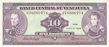 Billete de 10 Bs