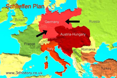 World civilizations two world war i alliances and war plans because of the realities of geography see map germany would be forced to fight a two front war russia on one side and britian and france on the other gumiabroncs Image collections