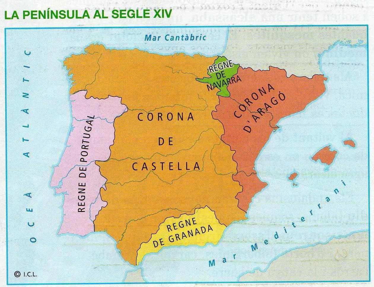 Resultado de imagen de peninsula iberica edat mitjana