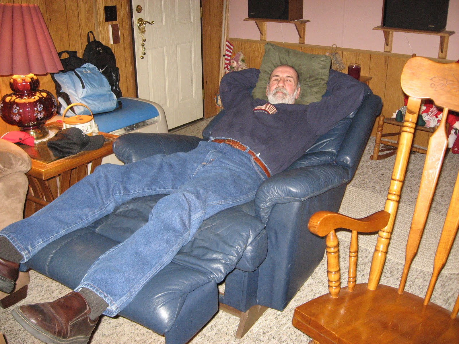Genial Tucked In Sweatshirt Relaxing Dad.