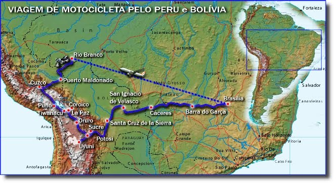 Mapa Rodoviario Do Peru E Bolivia