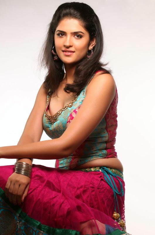 Actress Deeksha Seth In Wanted Movie Photo Gallery cleavage