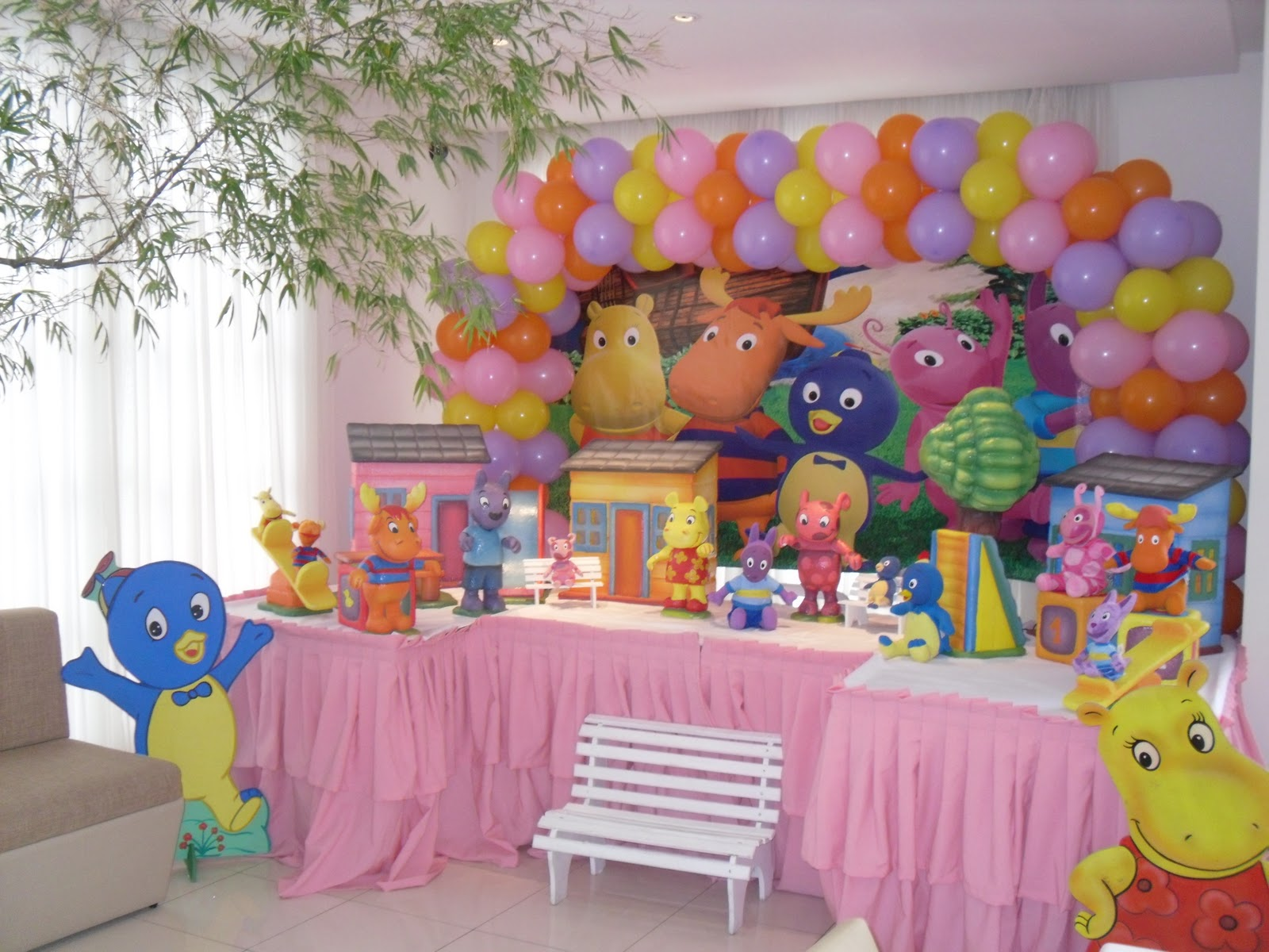 Festa Backyardigans – Rosa – 09/10~ Decoracao Festa Backyardigans