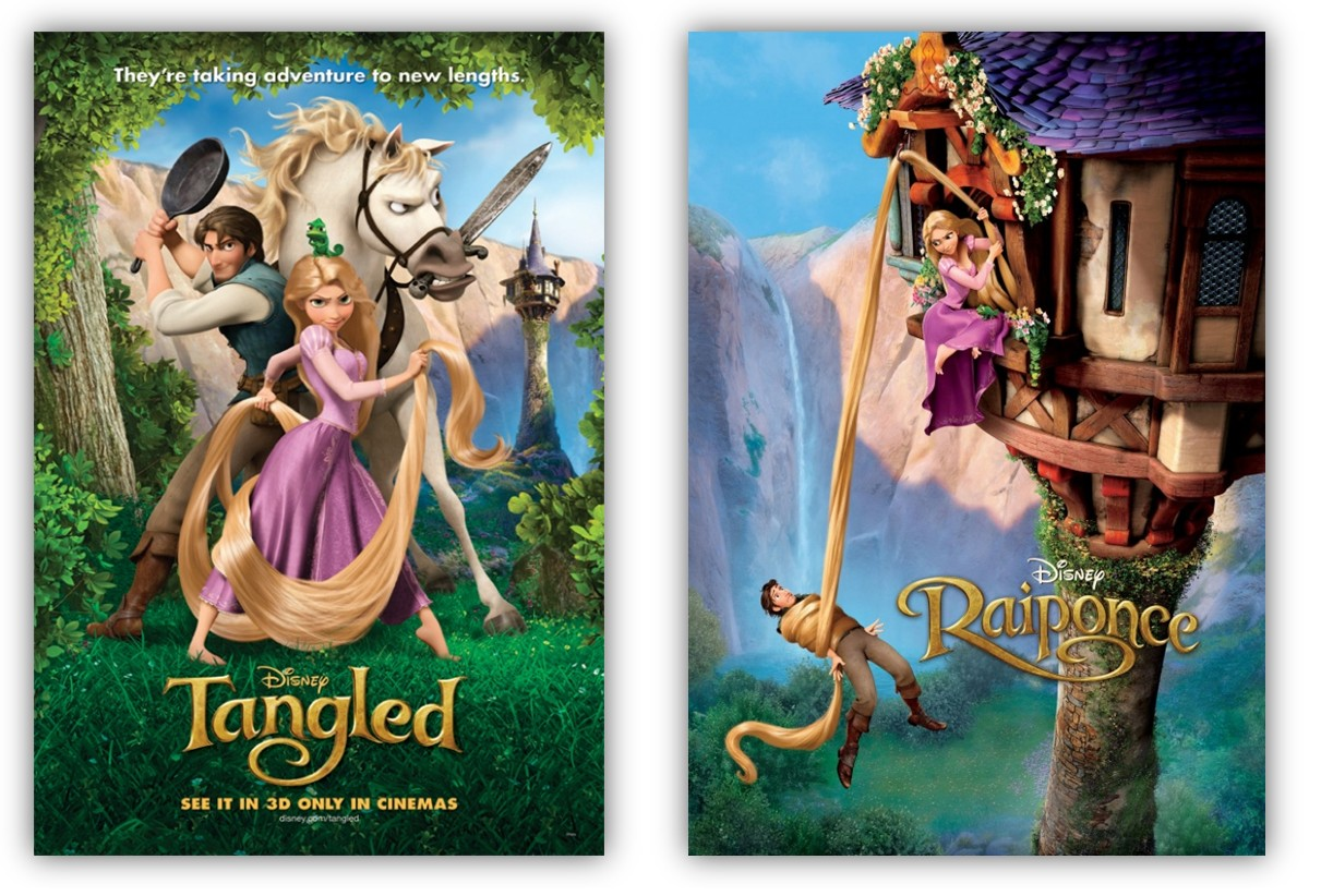New international posters for disney s tangled