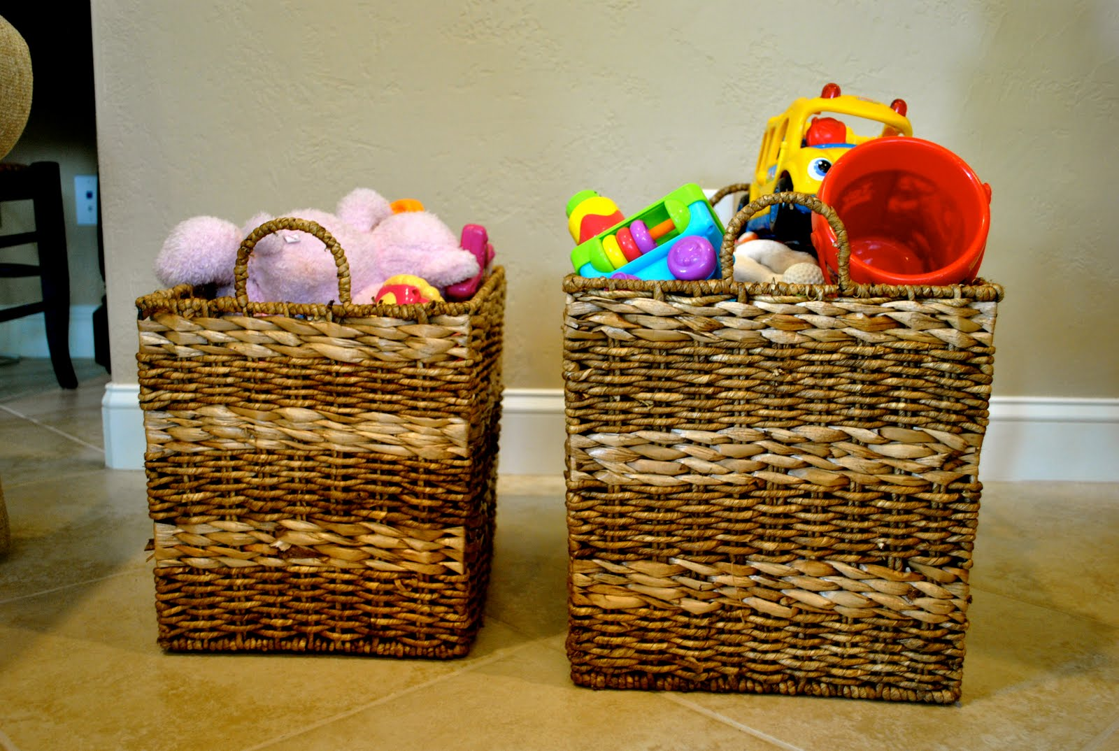Lovely After Reorganizing My Mudroom This Week, Iu0027ve Been Looking For Other Ways  To Use Baskets Around The House. I Thought I Could Spruce Up These Toy  Baskets In ... Awesome Ideas