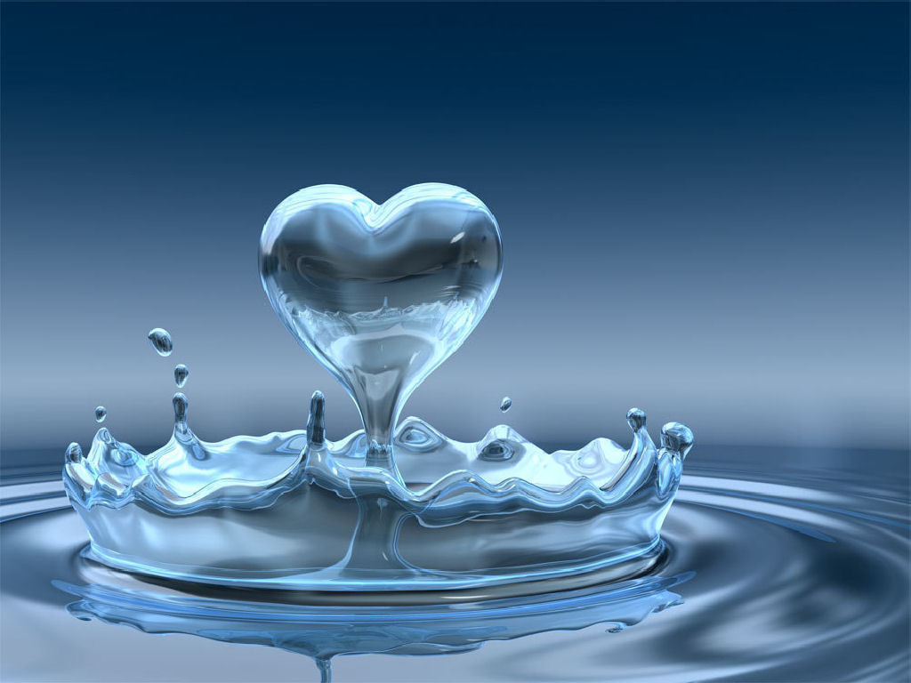 love wallpaper with water drop - photo #5