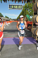Crossing the Finish Line - my first Half Ironman!