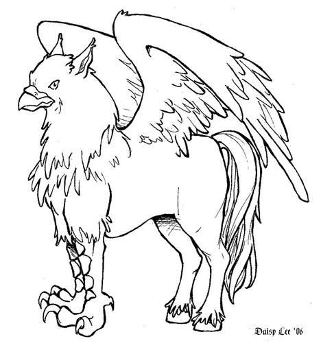 coloring pages buckbeak - photo#2