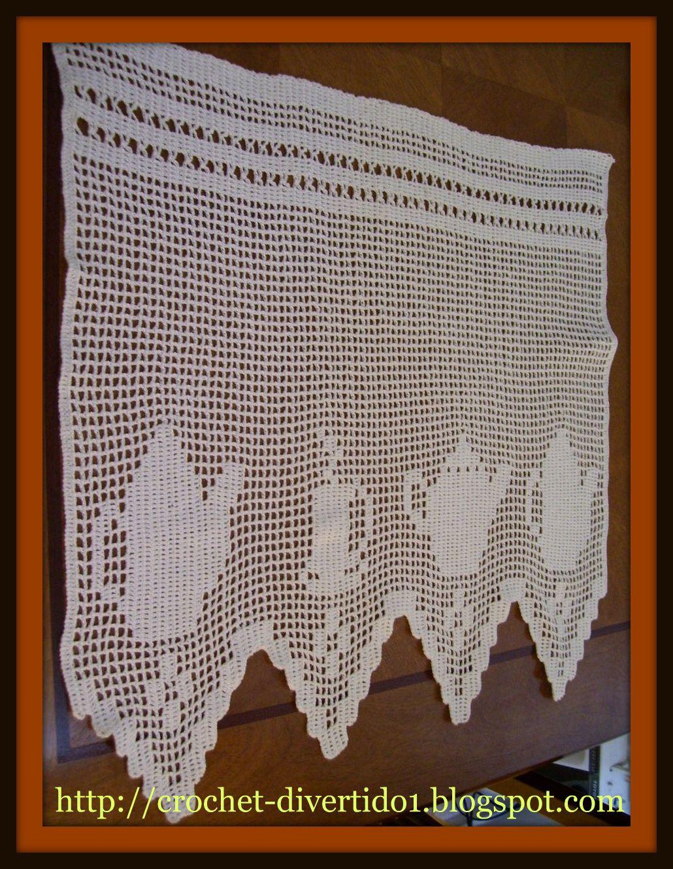 Vendo cenefas a crochet a pedido cortinas y persianas a for Cortinas de gancho para cocina