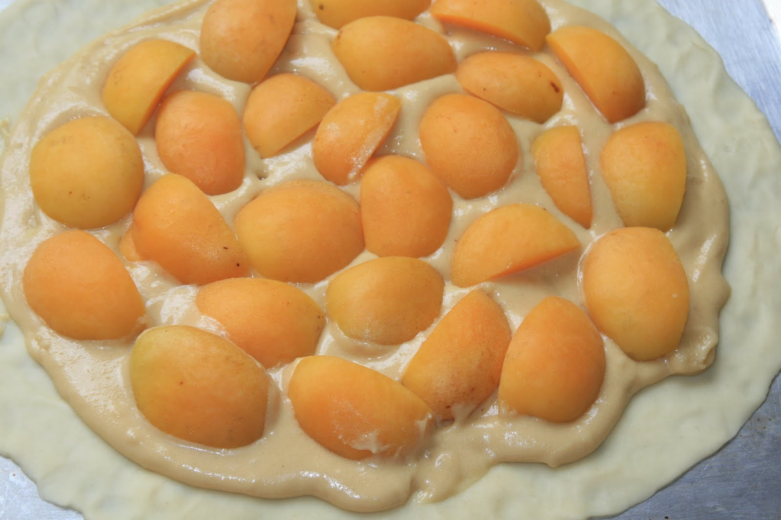 ... As A Provincial Peasant: Almond, Apricot, Cream Cheese Crostata