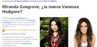 Vanessa Hudgens o Miranda Cosgrove