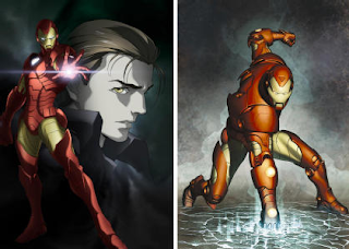 Madhouse's version of Iron Man at left
