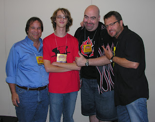 Tony Oliver, me, Kyle Hebert, and Steve Blum