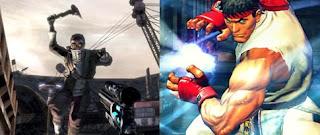 left: Borderlands, right: Street Fighter IV