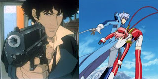 Cowboy Bebop: The Movie (left) and Angelic Layer (right)