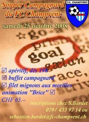 Souper du soutien du FC Champvent - version 2008