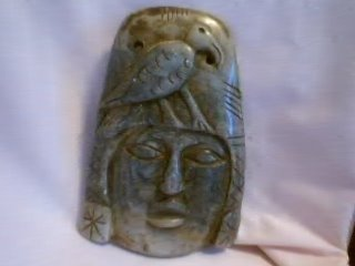Marble Mask with bird