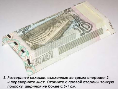 Рубашка из 10 рублей. 3 этап.
