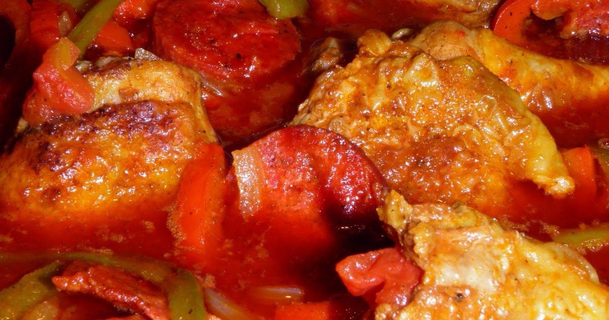 Anna's Cooking Adventure: 20101201 Chicken with Paprika and Chorizo