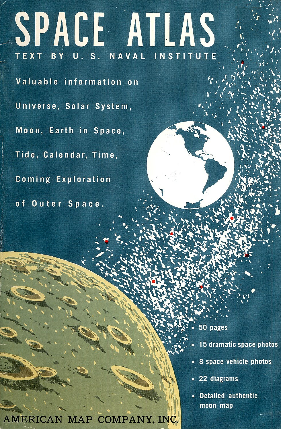 American Map Company Inc.Dreams Of Space Books And Ephemera Space Atlas 1961