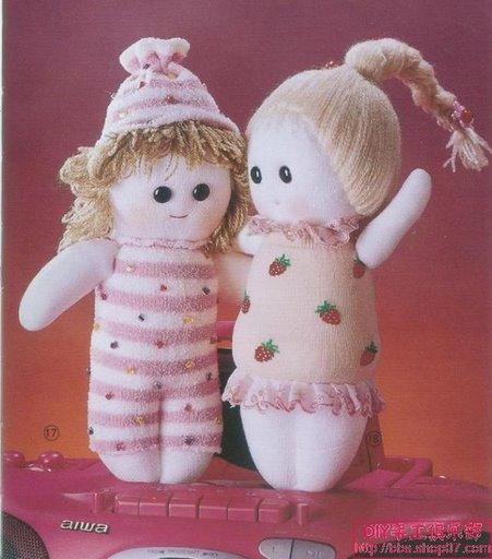 Muñecos country: muñecas con medias