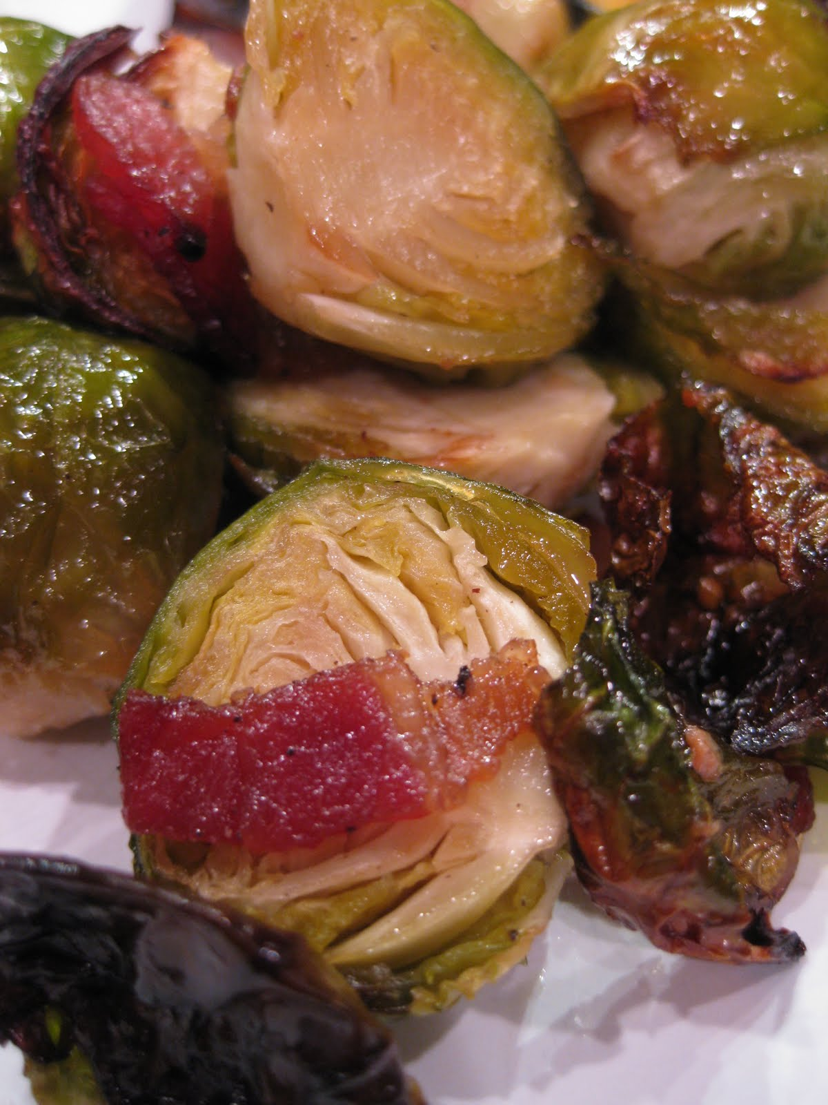 Dinner at Christina's: Brussel Sprouts with Bacon and Maple Syrup