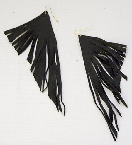 Leather Feather Earrings 50 Off Lynoregalore