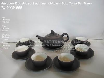 Bộ ấm trà tử sa Bát Tràng