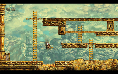 Braid gameplay screenshot: rewinding time