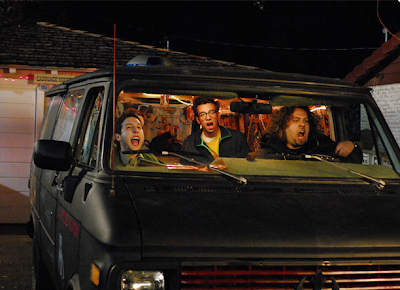 Characters from Fanboys ready to roll out in their van