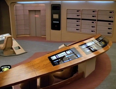 Enterprise-D bridge tactical station