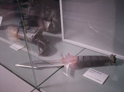 Star Trek: The Exhibition display case with Klingon weapons
