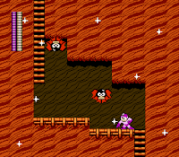 Mega Man 2 screenshot of Wood Man's stage