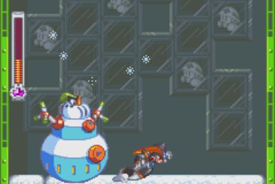 Demonstration of Bass dashing in Mega Man & Bass