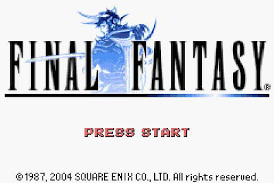 Final Fantasy I remake title screen