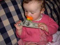 Baby w/ money