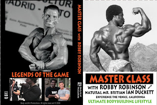 COVER OF ROBBY'S DVD - MASTER CLASS with ROBBY ROBINSON  INSTRUCTIONAL DVD - Train with the legends of the iron game ▶ www.robbyrobinson.net/dvd_master_class.php