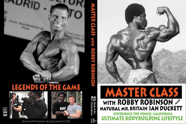 "COVER OF ROBBY'S DVD ""MASTER CLASS  WITH ROBBY ROBINSON AND IAN DUCKETT -  TRAIN WITH THE LEGENDS OF THE GAME""  ● www.robbyrobinson.net//dvd_master_class.php ●"