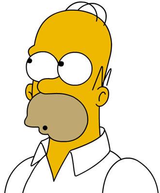 Homero Simpson el pelado animado más famoso